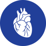 Icona cuore blu