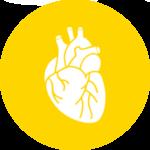 Icona cuore gialla