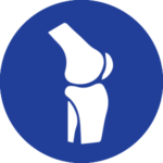 Icona ginocchio blu