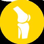 Icona ginocchio gialla