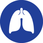 Icona polmoni blu