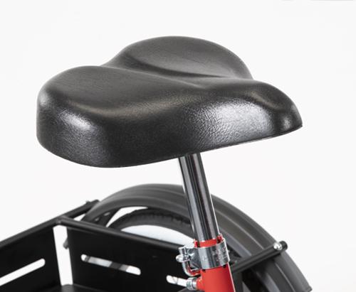 La sella ergonomica del Triciclo 207 di Ormesa